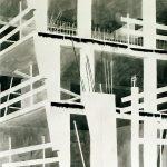 Betonnen constructie # 2, 2003, Oost Indische inkt op zuurvrij papier, 75 x 75 cm. Verkocht.