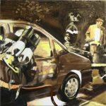Carviolence # 1, 2007, acryl op linnen, 60 x 60 cm.