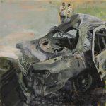 Carviolence # 10, 2008, acryl op linnen, 60 x 60 cm.