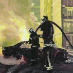 Carviolence # 2, 2007, acryl op linnen, 60 x 60 cm.