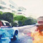 Ongewenst # 1, 2011, acryl op linnen, 50 x 50 cm.