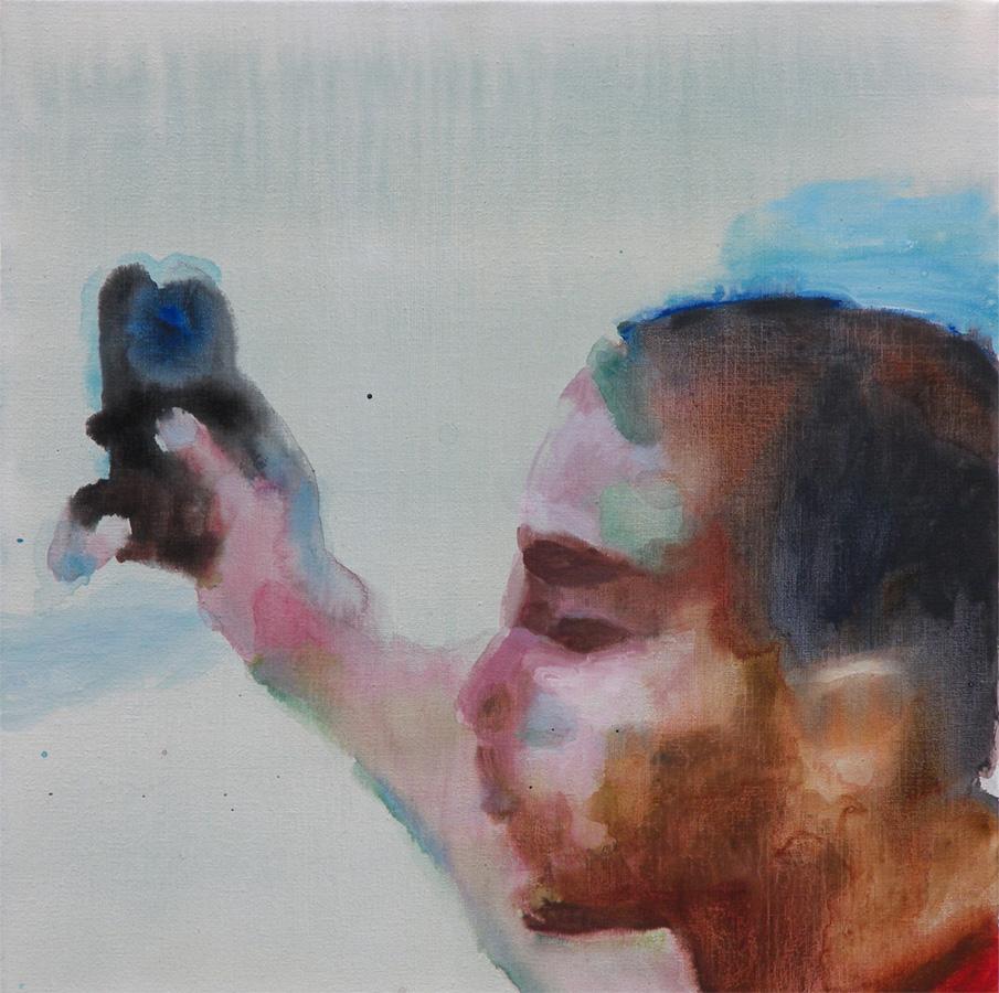 Het oog van de wereld, 2011, acryl op linnen, 50 x 50 cm.