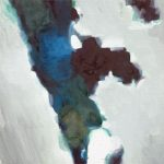 Vrezen voor je leven # 1, 2012, acryl op linnen, 50 x 50 cm, verkocht.