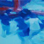 Buiten zicht # 1, 2012, acryl op linnen, 50 x 50 cm.