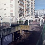 Zone urbaine sensible 1, 1.60 x 1.60 m, acryl op linnen, 2007.