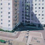 Zone urbaine sensible 3, 1.20 x 1.20 m, acryl op linnen, 2009.