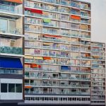 Zonsondergang aan de Noordzijde, acryl op linnen, 1.20 m x 1.20 m, 2015. Verkocht.