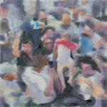 Het offer # 1, 2013, acryl op linnen, 50 x 50 cm.